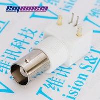 Smonisia 500pcs BNC Video Monitor Socket White Plastic Q9 Female BNC Jack for PCB Horizontal Type