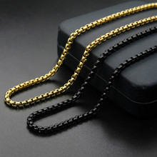 Titanium Steel Charms Chain Necklace Gold Black Color Men Choker Punk Style Fashion Jewelry