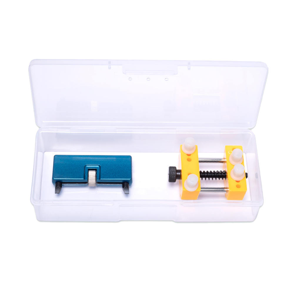 1 Box Portable Watch Back Case Cover Opener Remover Watchmaker Tools Stainless Steel Adjustable Holder Watch Repair Tool kit in Repair Tools Kits from Watches