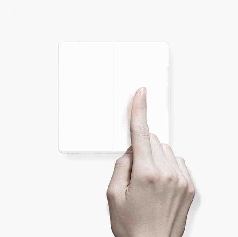 2019 Xiao mi Aqara Wand schalter Zigbee Drahtlose schalter Schlüssel Smart Licht Control single Feuer Keine Neutralen durch mi jia mi Hause APP Remote