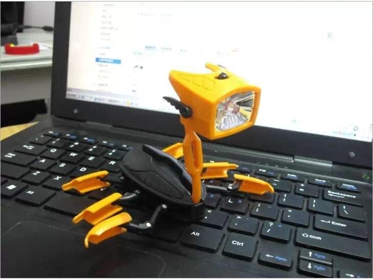 Novelty Deformable Transformer LED Flashlight Torch Lamp Light Gift Nightlight