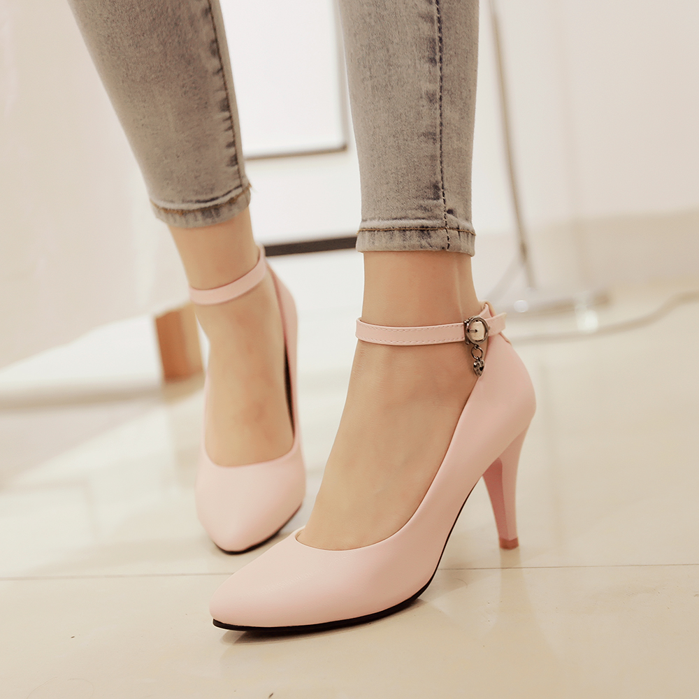 Bright Pink High Heel Shoes