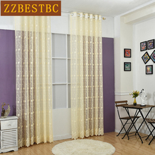 European high-grade lace jacquard screens for Bedroom/cafe Three colors can be selected for luxury Living Room tulle curtains