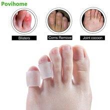 6 пар защитные накладки на пальцы кукурузный протектор корректор молоток разделитель пальцев ног гелевые рукава кукурузный Уход за глазами открытый носок хвост Уход за ногами D1328