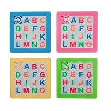 1pcs 7*7cm 3D שקופיות פאזל פלסטיק בניין מספרי אלפבית למידה Jigsaw משחק צעצועי ילדים חינוכיים צעצוע חידות מתנה