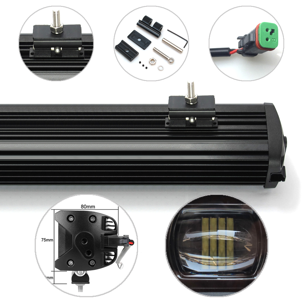 Image 3 - 6D Lens 30W 60W 120W 210W Single Row Led Light 4x4 Offroad Bar For Off road 4WD Truck ATV 12V 24V Trailer Waterproof Work Lights-in Light Bar/Work Light from Automobiles & Motorcycles