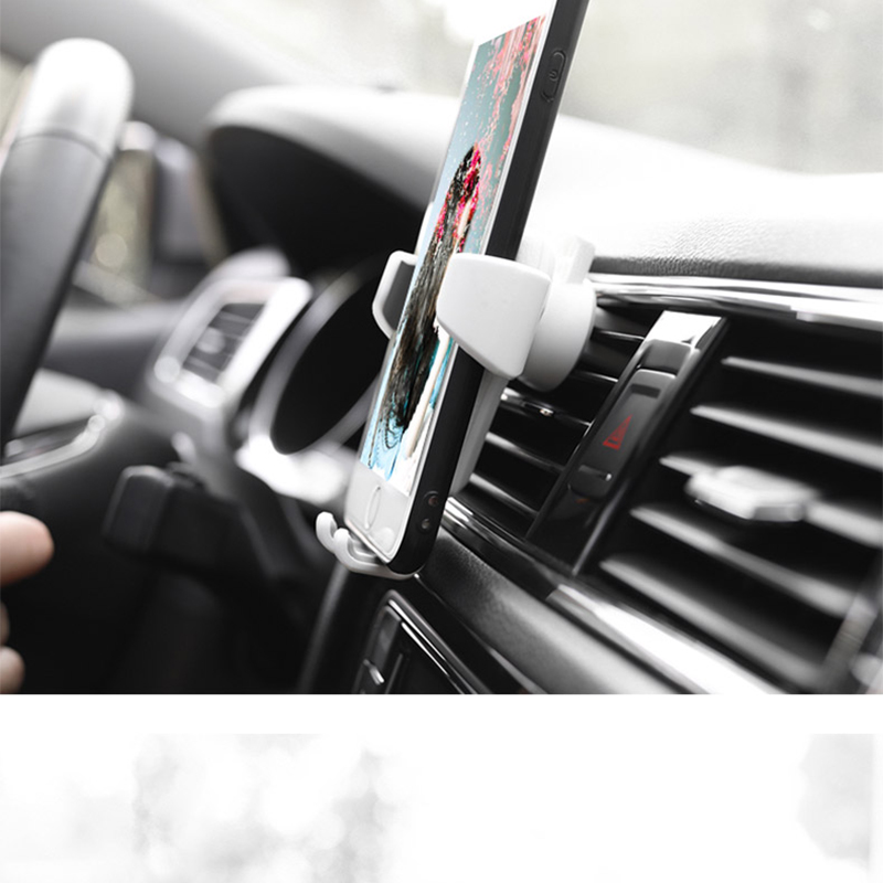 HTB1v TGKeySBuNjy1zdq6xPxFXaA - Car Phone Holder For Phone In Car Air Vent Mount Stand No Magnetic Mobile Phone Holder Universal Gravity Smartphone Cell Support