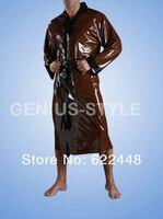 100% латексный резиновый Жакет ручной работы, латексное пальто с длинными рукавами/Тренч