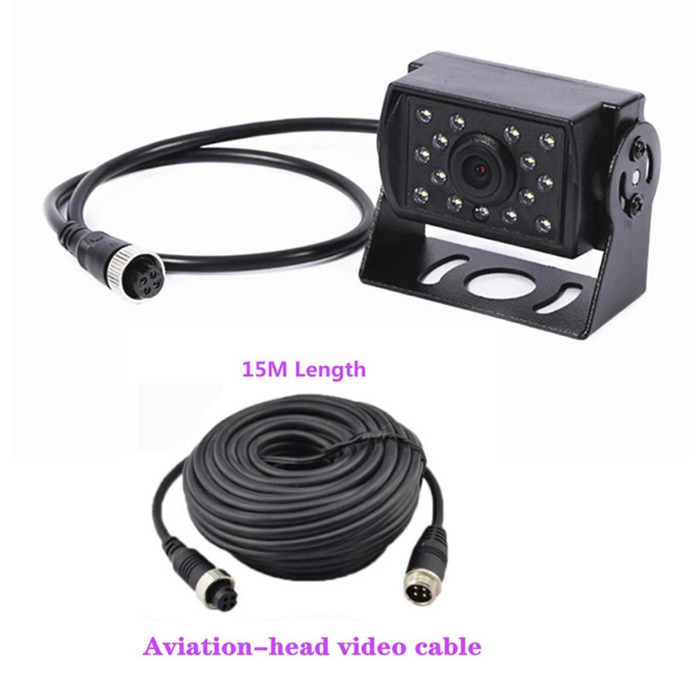 Горячие Новые 7 дюймов ips 2 с разделенным экраном 1024*600 AHD автомобильный монитор Автомобильный видеорегистратор DVR или AHD фронтальная камера/камеры заднего вида по желанию - Цвет: Reverse cam3 15M