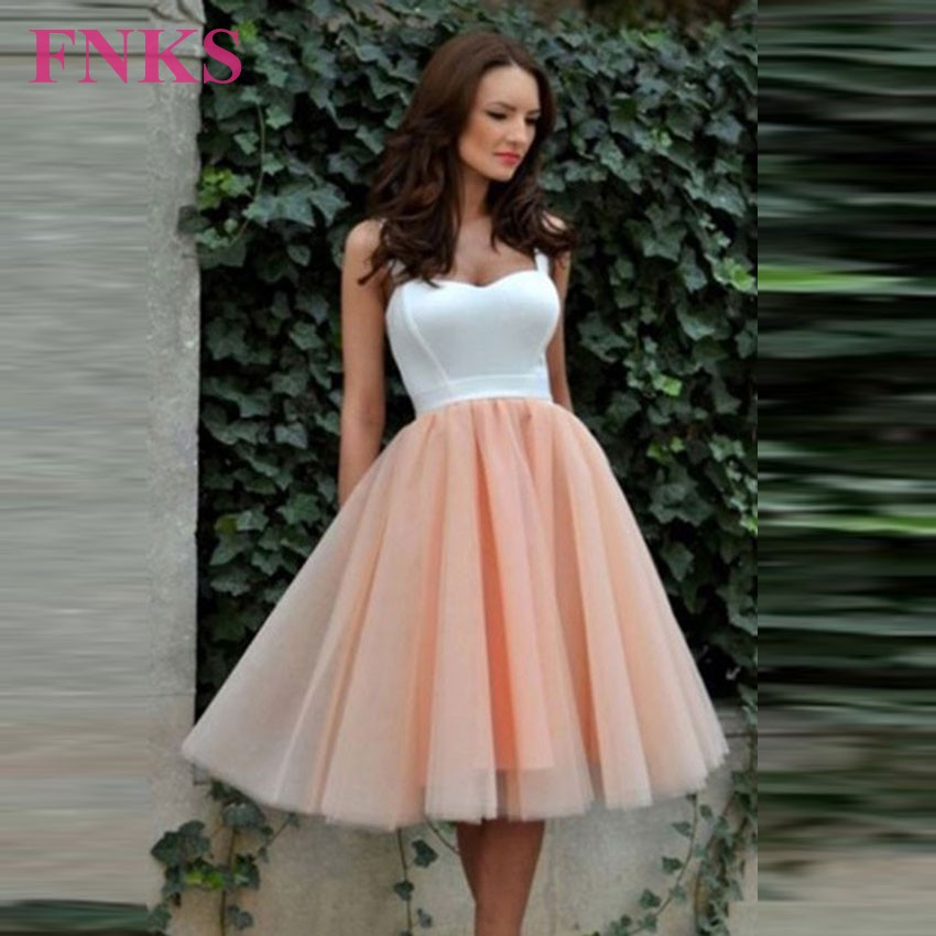 Vestidos De Baile White And Champagne Ball Gown Short Prom