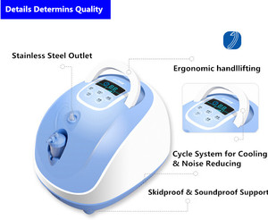 Image 4 - مُكثّف أوكسجين مولد أكسجين طبي للاستخدام المنزلي والمستشفى على مدار 24 ساعة باستمرار O2 آلة توريد شحن مجاني