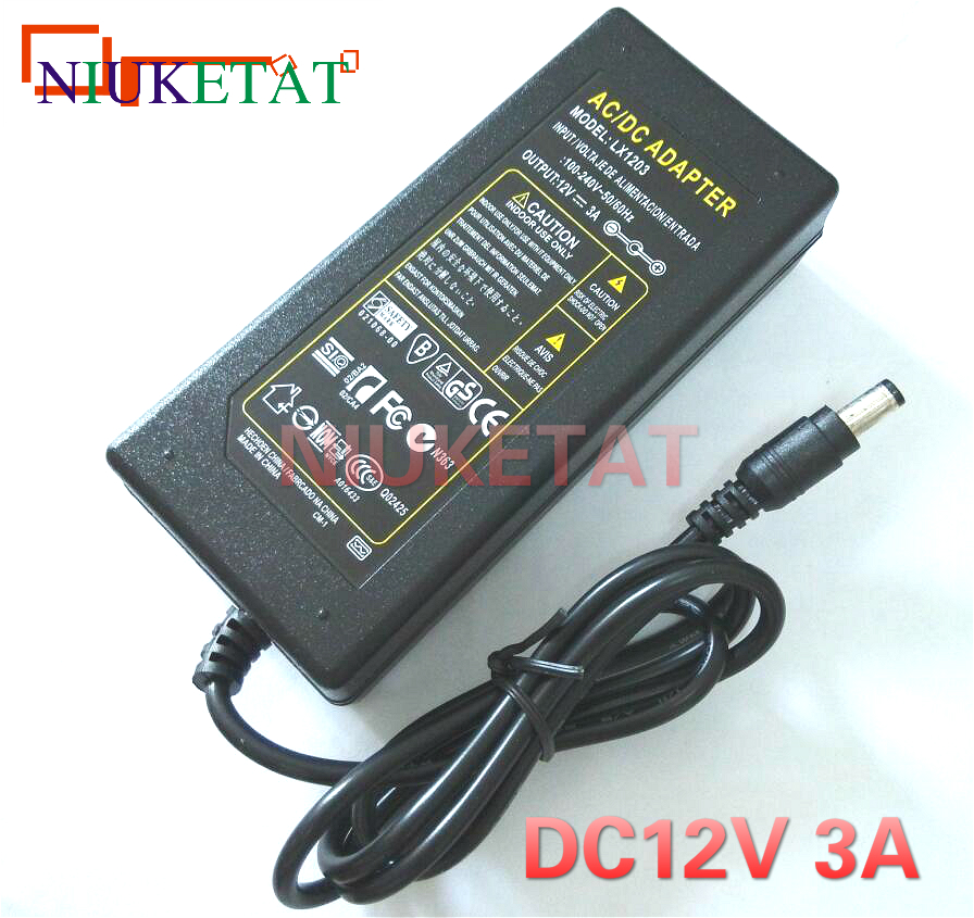LX1203 12V 3A 12V3A LED light power adapter 100-240V LED Power Supply Adapter drive for 5050 3528 LED Light Strip not with lineLX1203 12V 3A 12V3A LED light power adapter 100-240V LED Power Supply Adapter drive for 5050 3528 LED Light Strip not with line