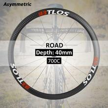 700C Asymmetric 40mm depth carbon road wheels  - WRC-40A