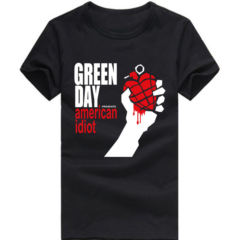 Green day t shirt green day american idiot funny printed for Wholesale t shirts american apparel