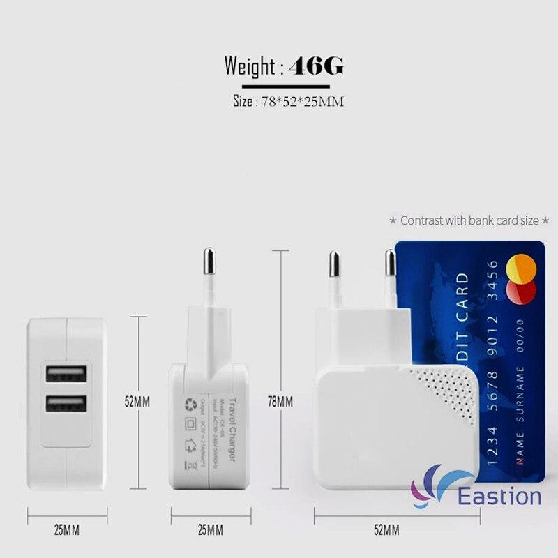 2 Port USB Wall Charger Untuk Perangkat iPhone iPad Samsung ios Micro - Aksesori dan suku cadang ponsel - Foto 4