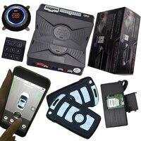 Pke Автомобильная сигнализация с keyless go двигатели для автомобиля start stop кнопка GPS слежения автомобиля Пассивный Автозапуск Авто замок дистанц