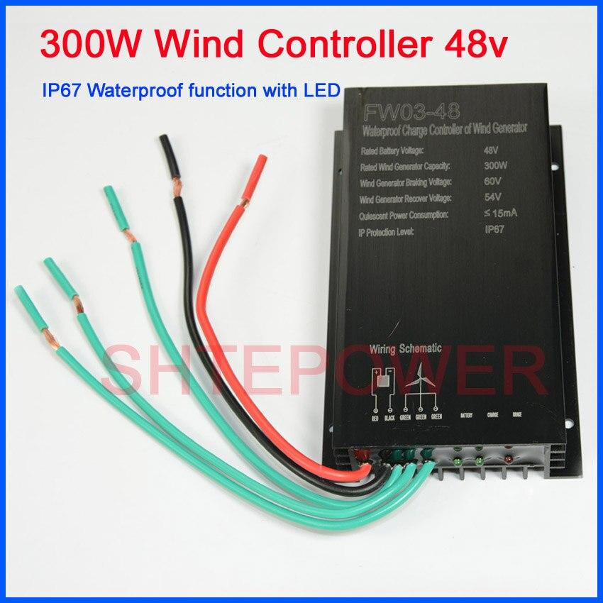 48 v 300 w controlador de carga do vento com controlador de carga a prova d
