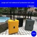 Grote beschermhoes Met wielen fotoapparatuur doos Veiligheid Instrument box Koffer Beschermende doos Apparatuur toolbox