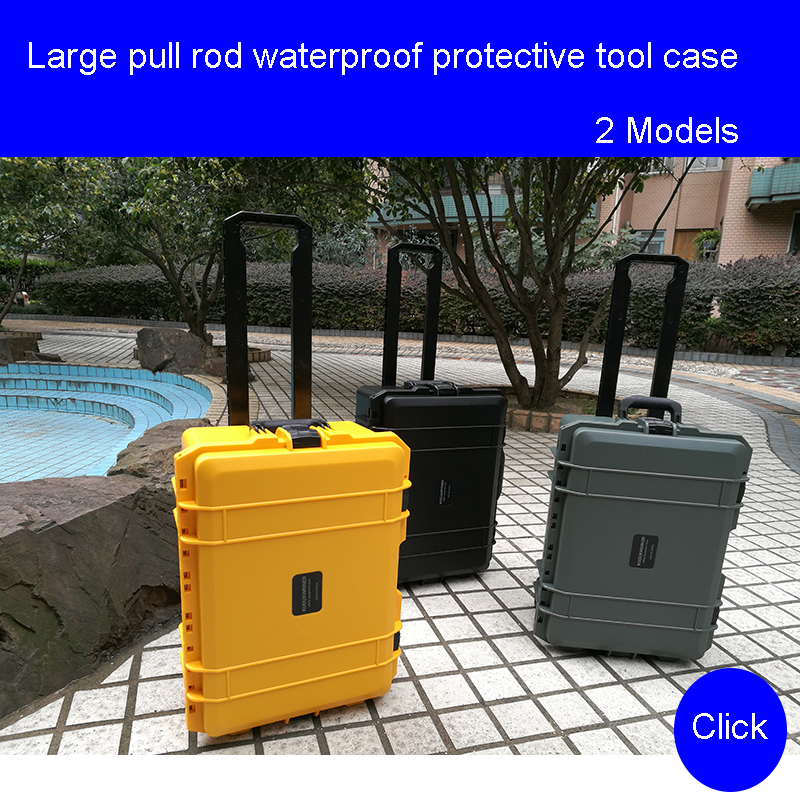 Large protective case With wheels Photographic equipment box Safety Instrument Suitcase Protective Equipment toolbox