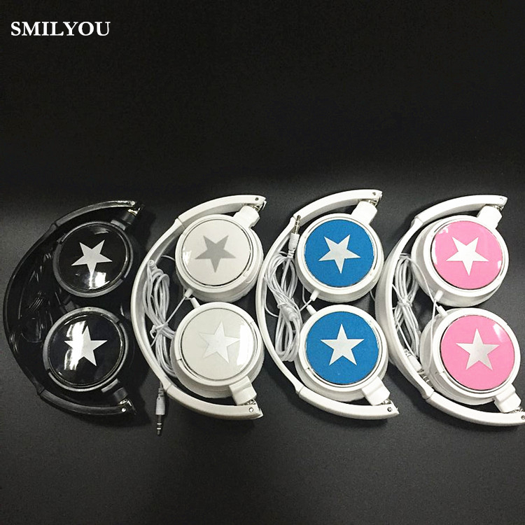 SMILYOU fashion Foldable headphones Gaming Headset Earphone with  For PC Laptop Computer Mobile Phone MP3 MP4 music player universal headphones 3 5mm earphone earhook with clear voice for mp3 player computer apple iphone 6 6s 5 5s mobile phone headset
