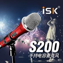 ISK S200 Handheld Condenser Microphone Condenser Professional Studio Computer mikrofon Network K Song Karaoke Microphone stand