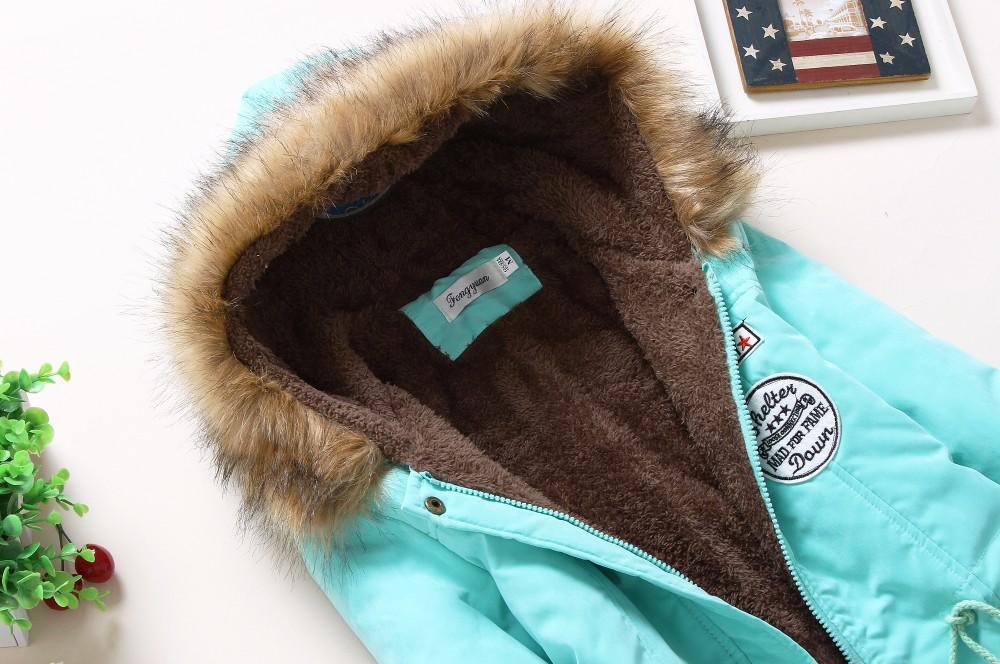 Women Cotton Wadded Hooded Jacket Down Coat