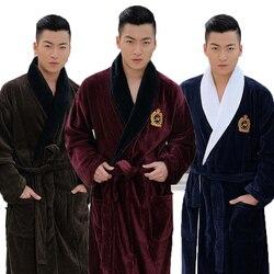 Albornoz de hombre XL, Kimono largo grueso de invierno para hombre, bata, manta, toalla, albornoces de lana de alta gama, hotel en casa, amor, suave otoño