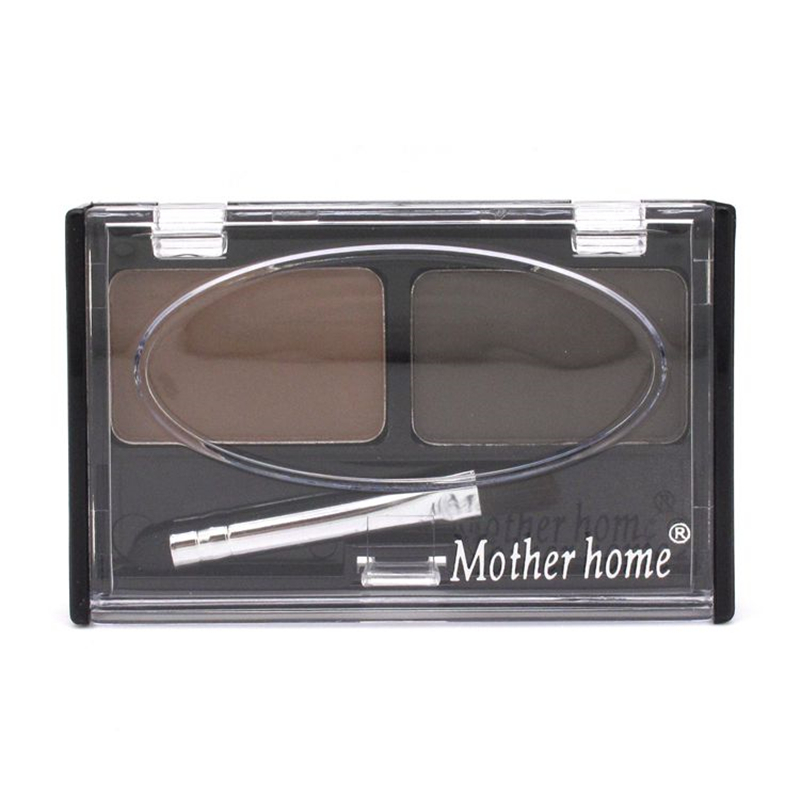 Mother Home Eye Brow Dye Makeup 2 Color Eyebrow Powder Palette Waterproof Eyebrow Tattoo Cake Shadow Kit with Brush 5