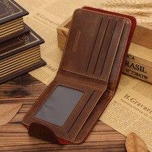 100% Genuine Leather Wallet Men New Brand Letter Wallet For