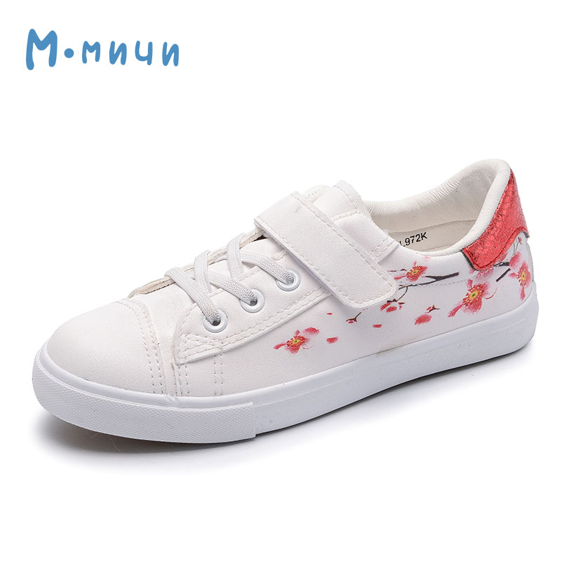 MMNUN 2018 New Spring Flower Girls Shoes Children Shoes Breathable Pu Leather Kids Shoes for Big Girls Cute Children Sneakers dinoskulls new kids sport shoes children sneakers breathable leather boy running shoes 2018 girls leisure casual shoes
