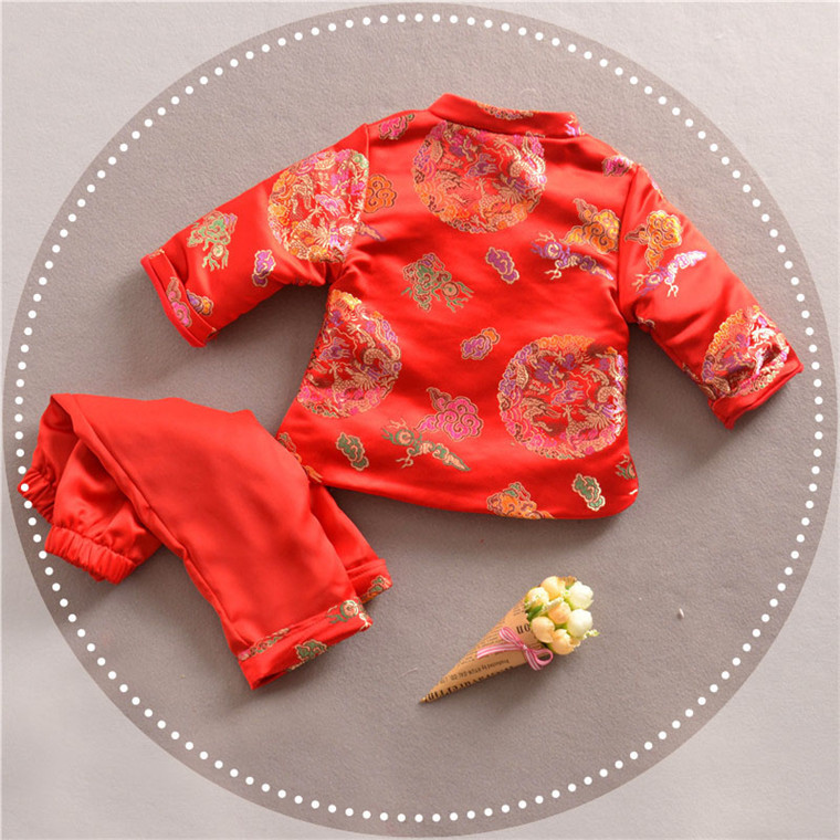 afb8e484e Chinese Style Traditional Winter Boy Clothing Child Tang Suit For New Year  Baby Boy Clothes 2018-in Clothing Sets from Mother & Kids on Aliexpress.com  ...
