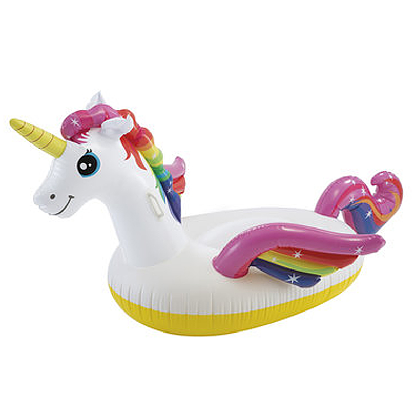 Egoes INTEX 57561 Inflatable Kid Adult Swimming Pool Ride On Colorful Unicorn Float in Air Mattresses from Sports Entertainment