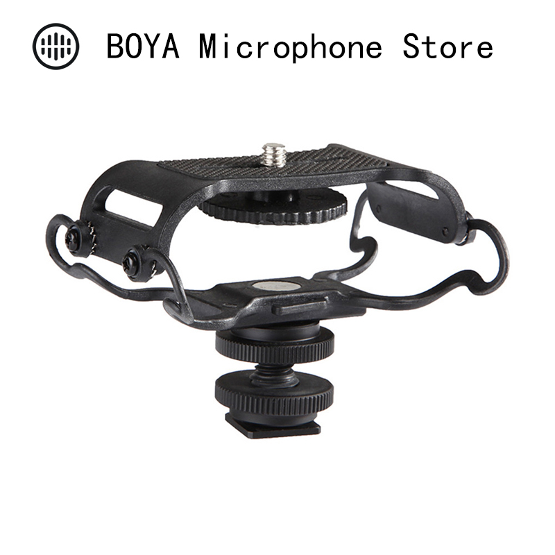 BOYA BY-C10 Microphone Shock mount for Zoom H4n/H5/H6 for Sony Tascam DR-40 DR-05 Recorders Microfone Shockmount Olympus Tascam