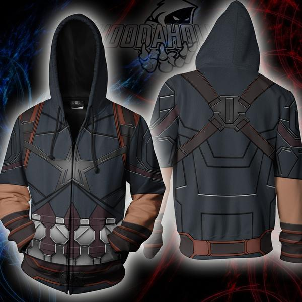 2019 New Marvel Super hero Captain America Punisher Jacket Zipper Hoodies 3D Printing Fashion Casual Men's hoodie sweatshirt