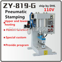 2SET 110V Pneumatic bronzing machine, barge under bit machine heating, lace processing, Automatic gilding principle ZY 819 G