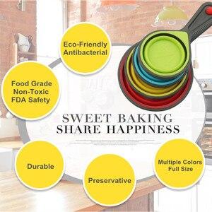 Image 5 - الخبز قياس الكؤوس والملاعق للطي الطبخ قياس كوب FDA Silione قياس ملعقة أدوات مطبخ المنزل اكسسوارات مجموعة