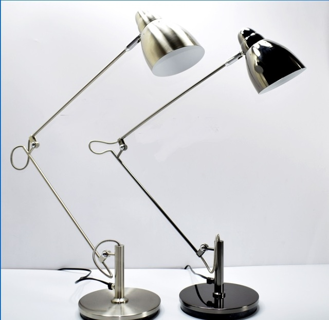 Desk Lamp Simple Desk Computer Design Eye Care Study Reading Work Drawing  LED Long Arm Lamp