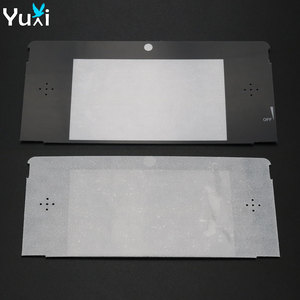 Image 1 - YuXi 10 יח\חבילה החלפת פלסטיק למעלה קדמי LCD מסך מסגרת עדשת כיסוי עבור Nintendo עבור 3DS