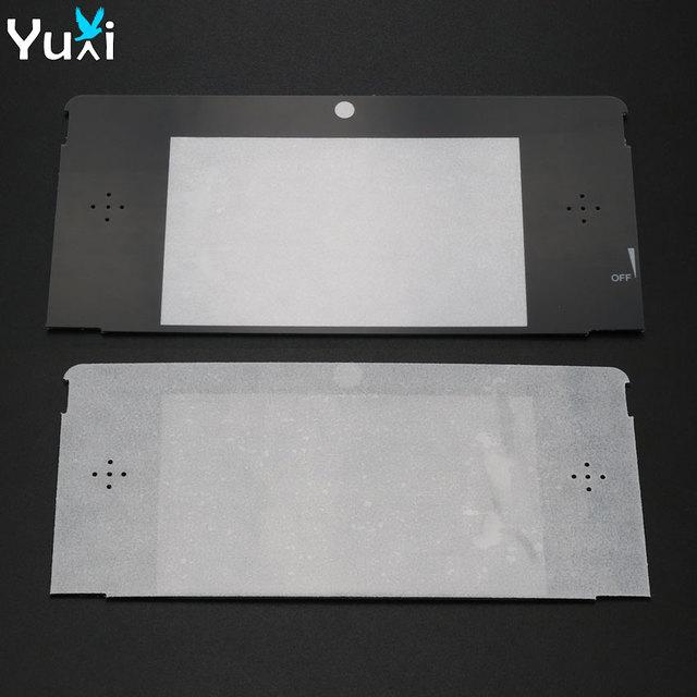 YuXi 10 יח\חבילה החלפת פלסטיק למעלה קדמי LCD מסך מסגרת עדשת כיסוי עבור Nintendo עבור 3DS