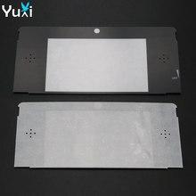 YuXi 10 unids/lote cubierta de lente de marco de pantalla LCD frontal superior de plástico para Nintendo 3DS