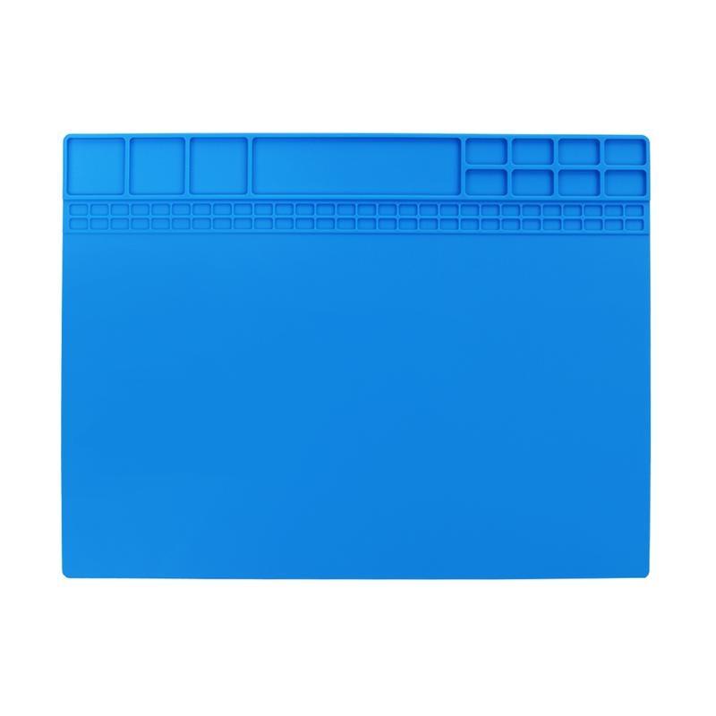405x305mm Big Heat-resistant Silicone Pad Desk Mat Maintenance Platform Heat Insulation Soldering Repair Station+Screw Location