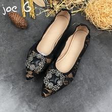Бренд Джо G настоящие женские кожаные туфли ручной работы на плоской подошве  кружева обувь с острым f5f6a92d78d