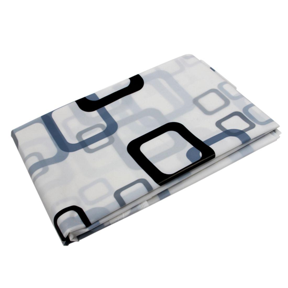 Best 180cm x 180 cm Black White Square Bathroom Waterproof Fabric Bath Shower Curtain