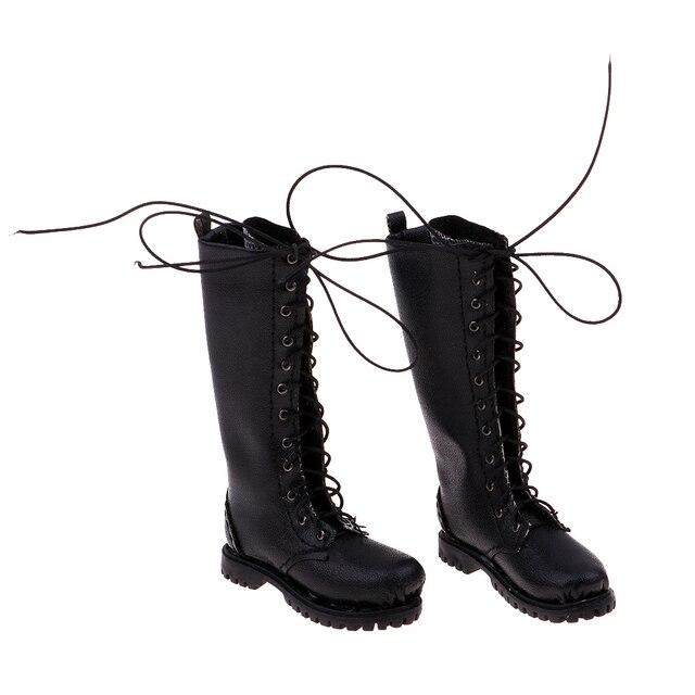 2 adet 1/6 PU Deri Çizmeler erkek ayakkabısı için 12 inç Sıcak Oyuncaklar/Phicen/Kumik Rakamlar Kız Erkek bebek çizmeler