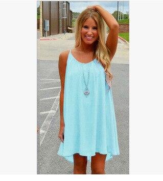 0ae67beab7d4 Dropwow Women beach dress fluorescence female summer dress chiffon ...
