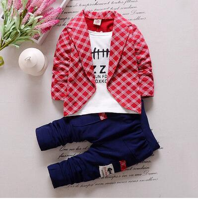 False Three-piece Child Suit Cotton New Pattern Boy Girl Baby Baby Child Suit 1-4 Year 6 Individual Month Korean Clothes summer child suit new pattern girl korean salopettes twinset child fashion suit 2 pieces kids clothing sets suits