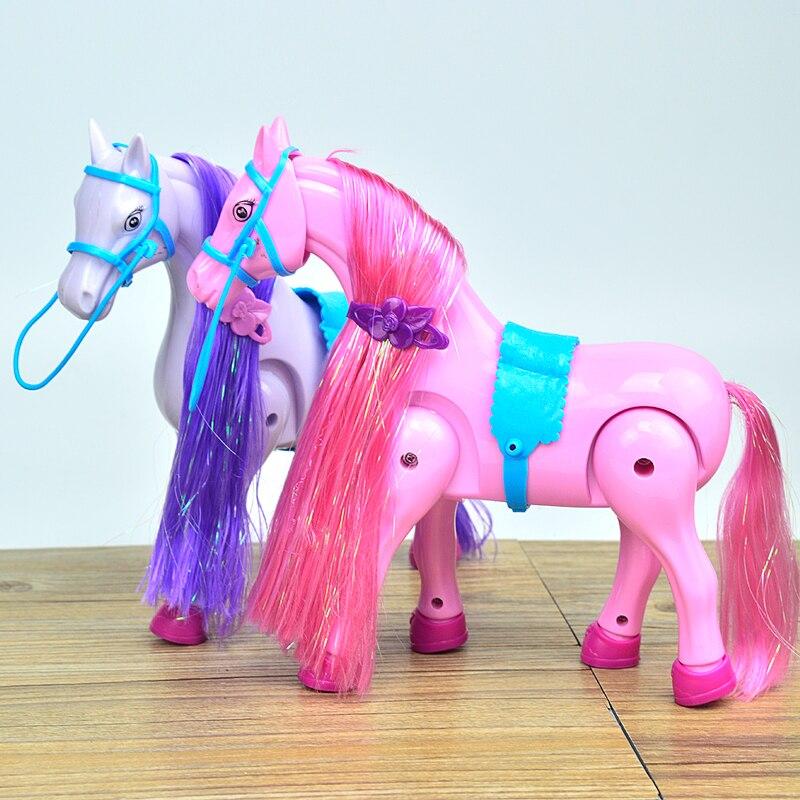53cm nouvelle fille poupée jouets électrique calèche anniversaires fille cadeaux pour enfants jouets pour enfants - 2
