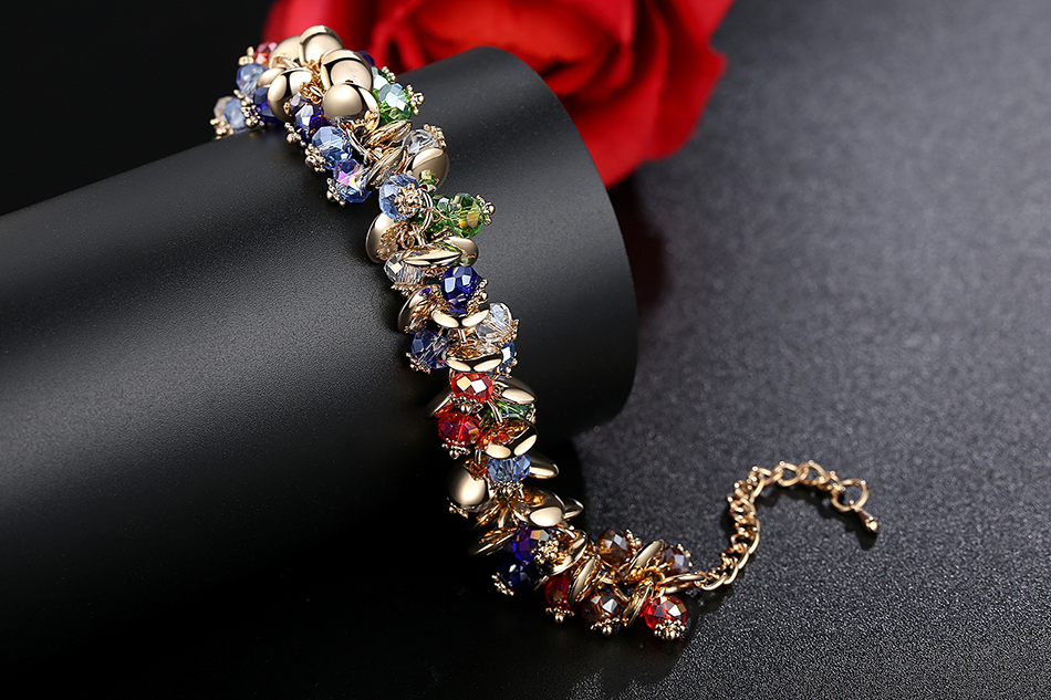 BELAWANG 18 Fashion Charm Bracelets & Bangles Fashion Crystal Stone Gold Bracelet For Women Friendship Bracelets Femme Jewelry 8