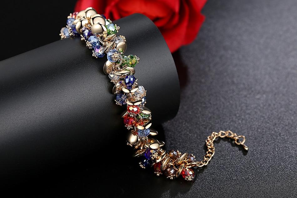 BELAWANG 18 Fashion Charm Bracelets & Bangles Fashion Crystal Stone Gold Bracelet For Women Friendship Bracelets Femme Jewelry 8