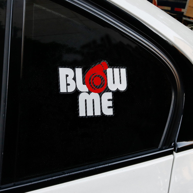 Blow Me Vinil Reflexivo Decalque Etiqueta do carro Turbo Boost Auto Tuning Car Styling Acessórios